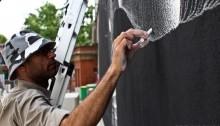 philippe baudelocque streetart mediatheque francoise sagan street art spraymium