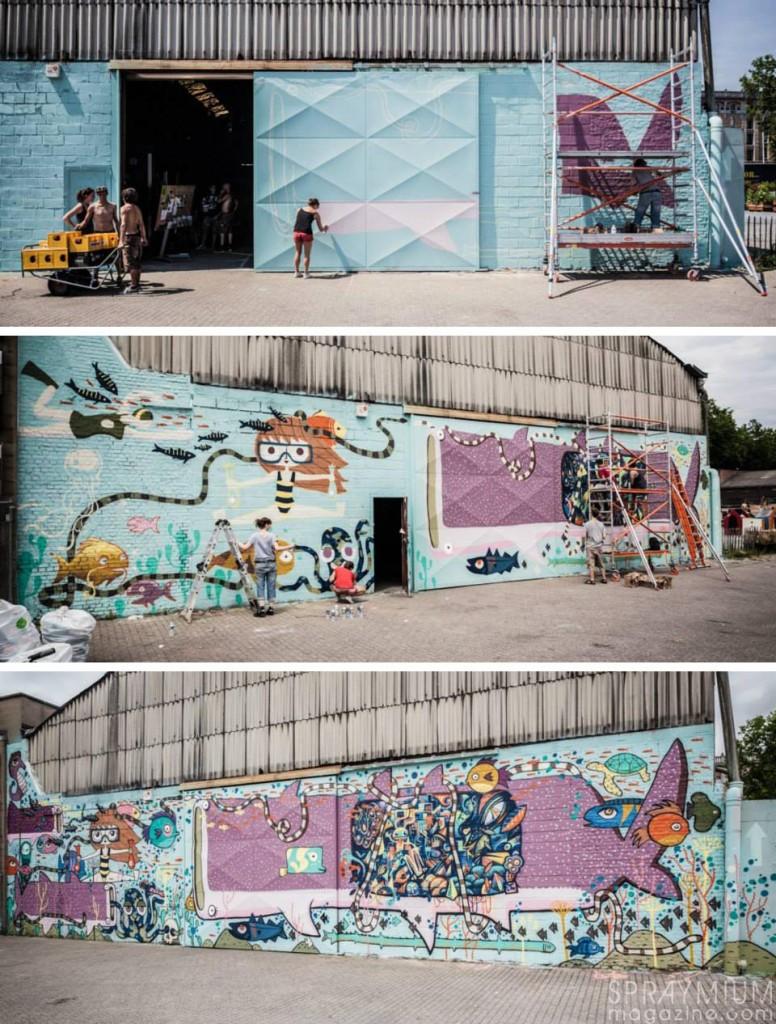 kosmopolite art tour bruxelles farm prod graffiti streetart spraymium
