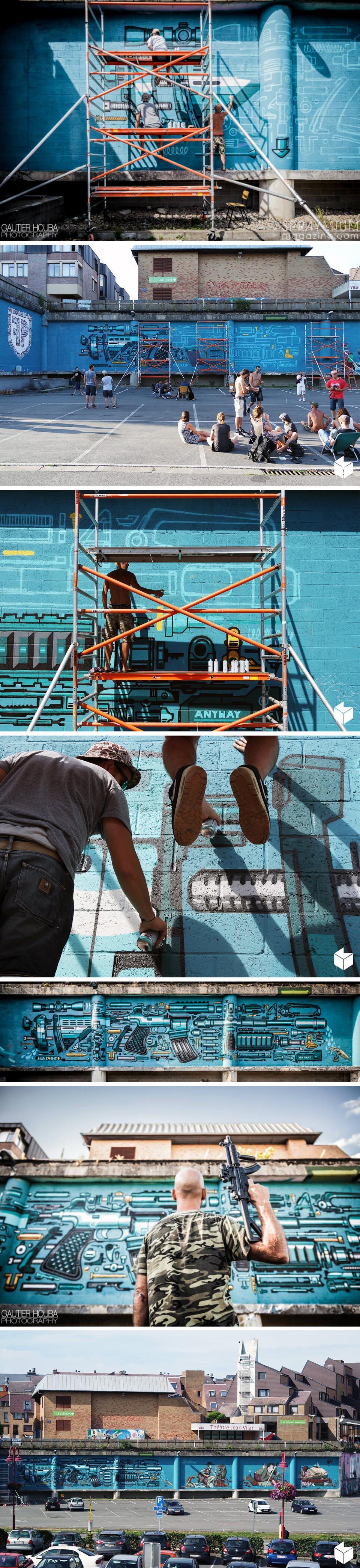 kosmopolite art tour louvainlaneuve farm prod graffiti streetart spraymium