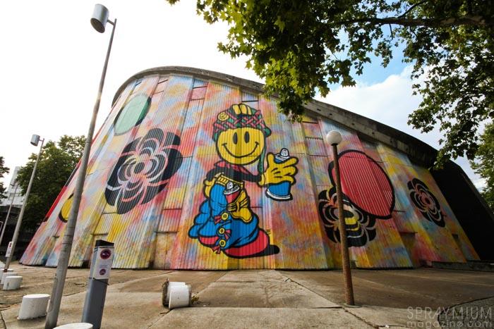 speedy graphito evry street art mural muralism urban art fresque agora spraymium