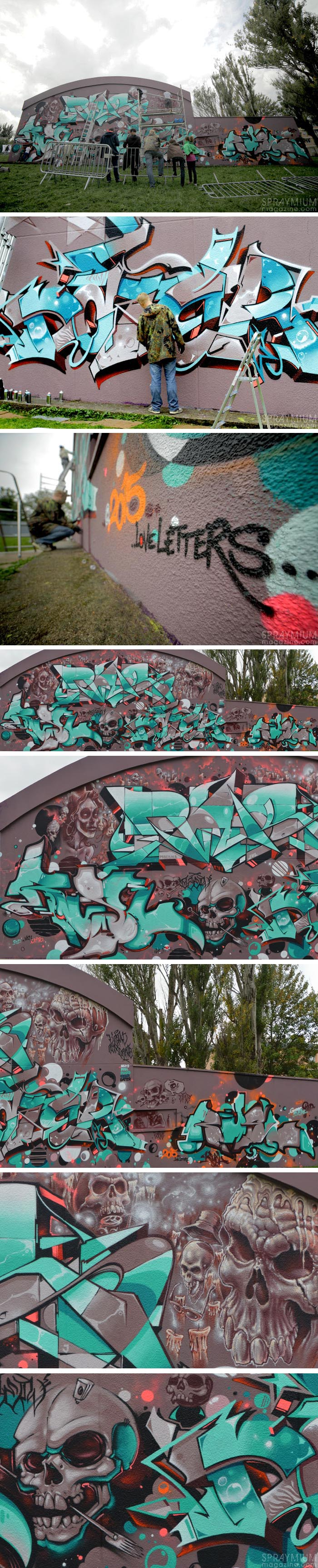 artauxgants spraymium festival graffiti writing art11 spraycanart loveletters puaks ozer nilko rusl dater