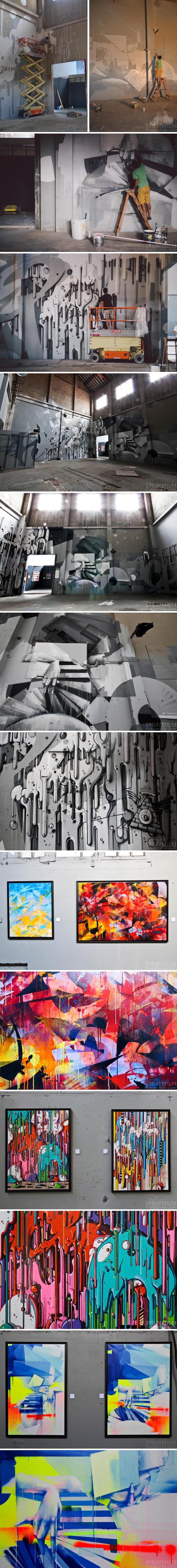 exposition mister freeze toulouse art urbain contemporain graffiti postgraffiti streetart muralism spraymium zest momies eack