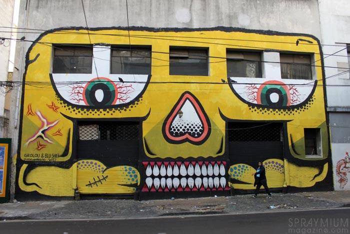 asie riderz art streetart nantes pickup spraymium grolou blushei