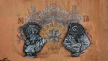 monkey bird evry street art pochoir stencil spraymium
