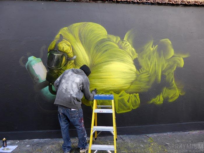 bomk bom.k dmv damentalvaporz graffiti street-art moniker art fair mya suben art london londres exposition spraymium