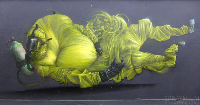 bomk bom.k dmv damentalvaporz graffiti street-art moniker art fair mya suben art london londres exposition spraymium
