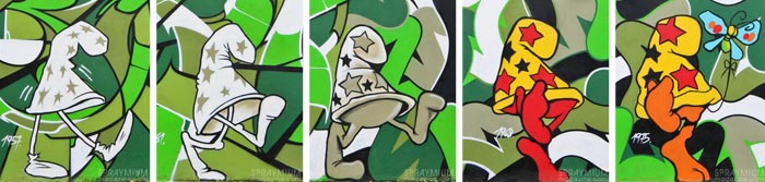 mark bode vaughn bodé graffiti comics cheech wizard spraycan art spraymium taxiegallery nubulo