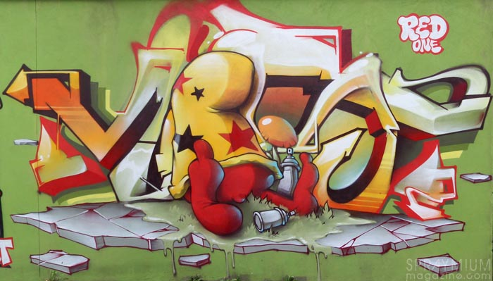 mark bode vaughn bodé graffiti comics cheech wizard spraycan art spraymium taxiegallery nubulo red