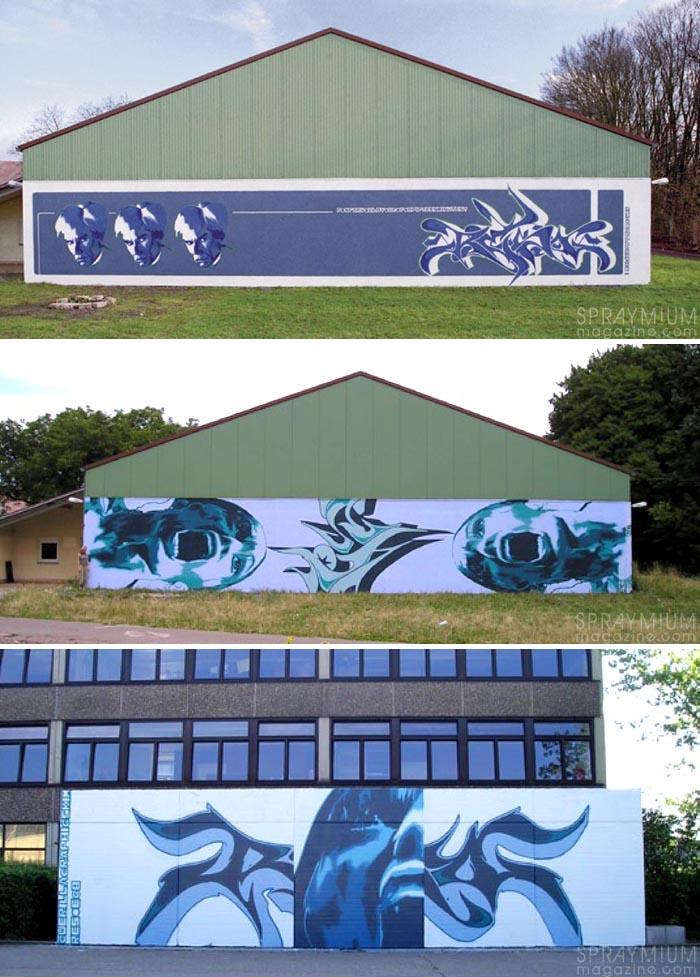 beikirch ecb hendrik hendrikbeikirch jardinrouge maroc marrakech montresso mural muralism portrait postgraffiti tracingmorocco urbanart spraymium reso