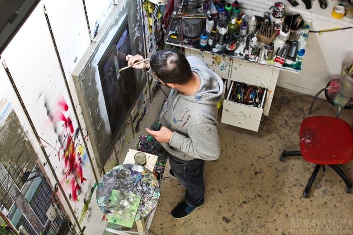 arnaud liard exposition vertiges galerie gilbert dufois peinture toile canvas postgraffiti urbanart spraymium