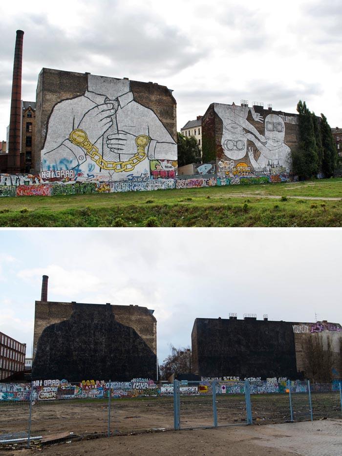 blu street art bologna banksy erase mural spraymium berlin