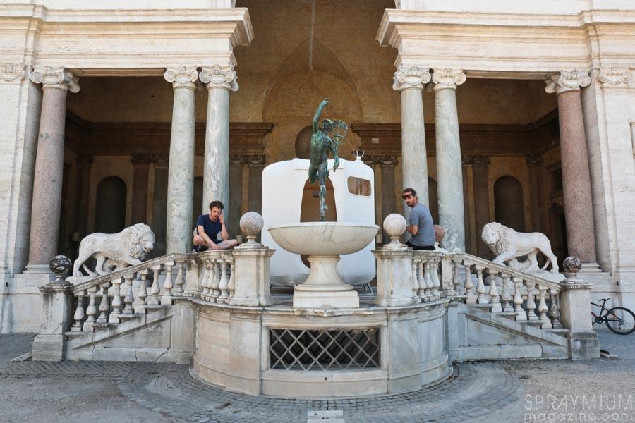 villa medicis medici rome roma teatro lek sowat dmv dmvaporz postgraffiti urbanart installation macchia aperta spraymium gzeley