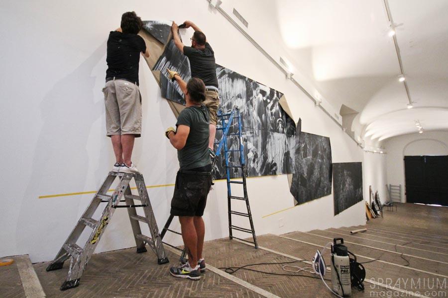 villa medicis medici teatro lek sowat dmv dmvaporz postgraffiti urbanart installation macchia aperta rome roma spraymium gzeley