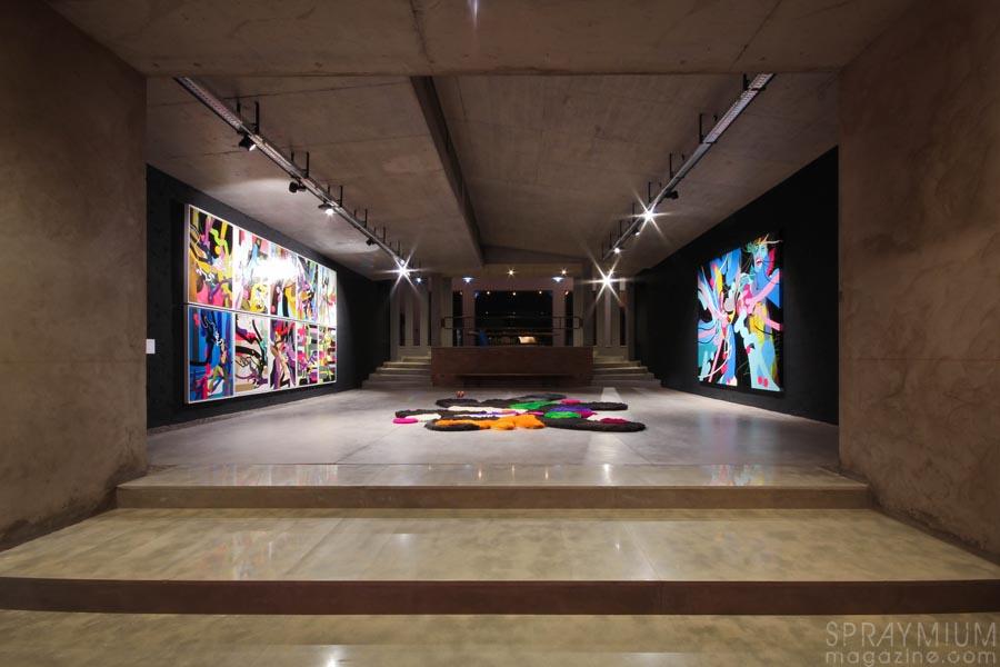 xxl, montresso, jardin rouge, jonone, tilt, fenx, cedrix crespel, exposition, graffiti, postgraffiti, art urbain, urban art, art contemporain, installation, 156