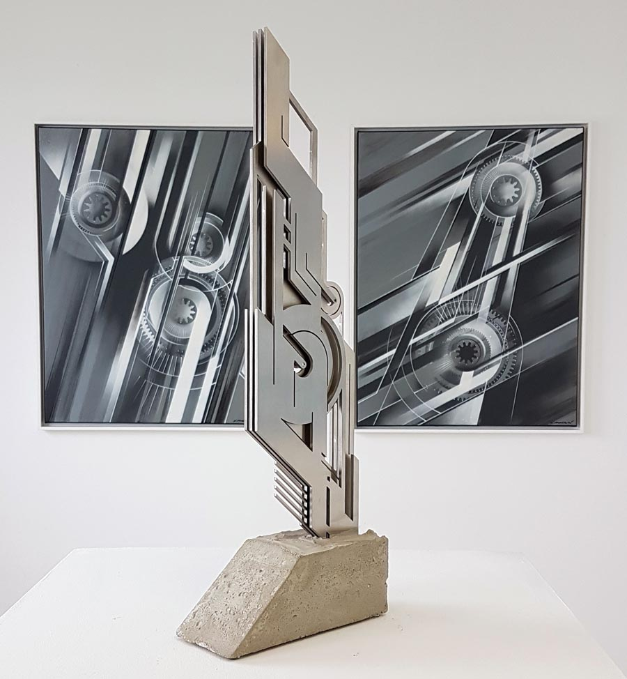 xavier magaldi mecafuturism exposition speerstra sculpture art urbain post graffiti spraymium
