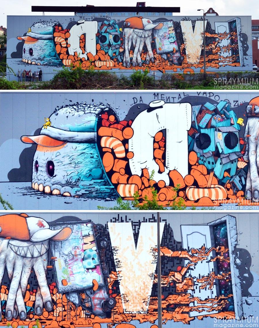 blo bomk brusk kan gris1 lek sowat dmv damentalvaporz berlin graffiti postgraffiti urban art spraymium