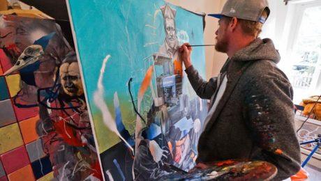 joram roukes 42b postgraffiti urbanart art contemporary painting spraymium gzeley
