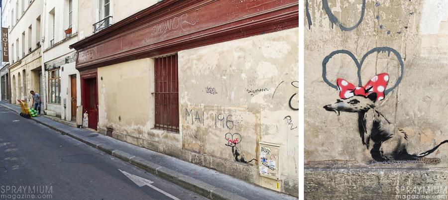 banksy streetart art urbain urban paris spraymium