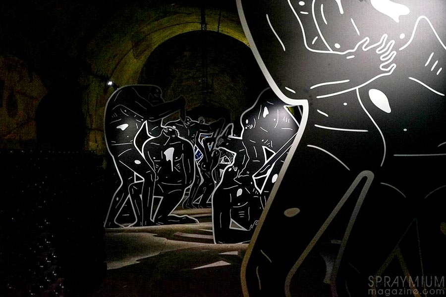cleon peterson pommery esprit souterrain hugo vitrani art contemporain spraymium gzeley