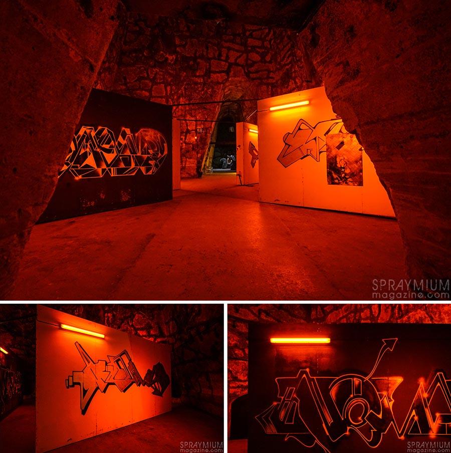 kaya nomadski pommery esprit souterrain hugo vitrani art contemporain spraymium gzeley
