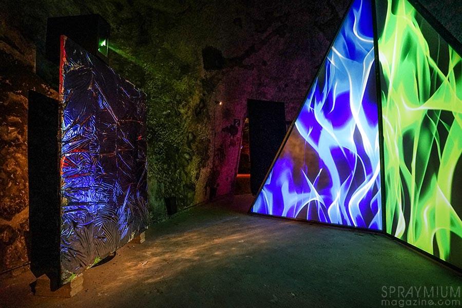 quistrebert pommery esprit souterrain hugo vitrani art contemporain spraymium gzeley