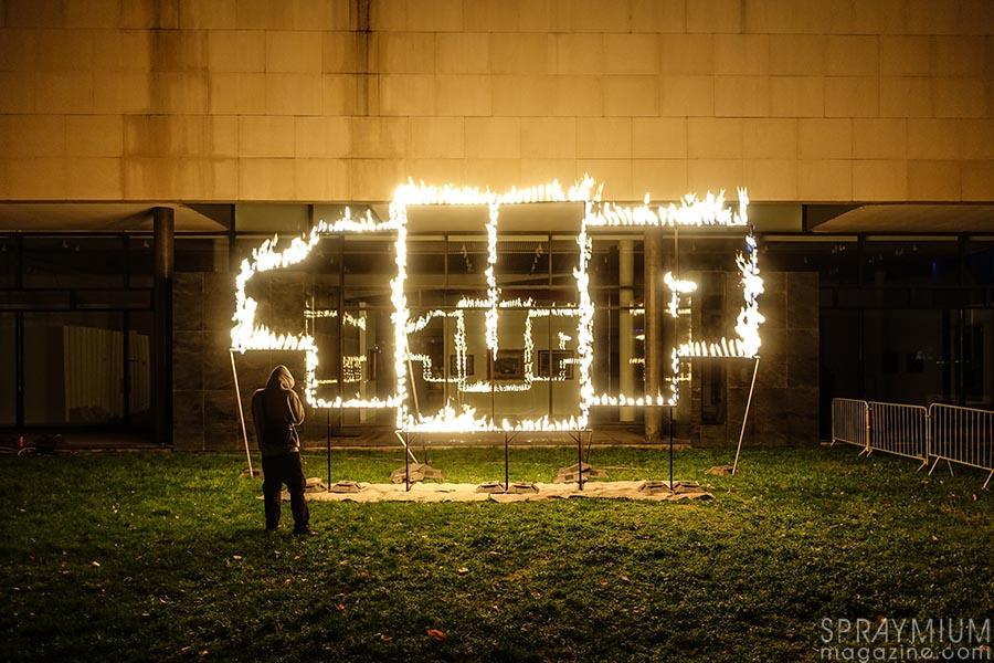 1up fire on fire postgraffiti urbanart art urbain spraymium gzeley