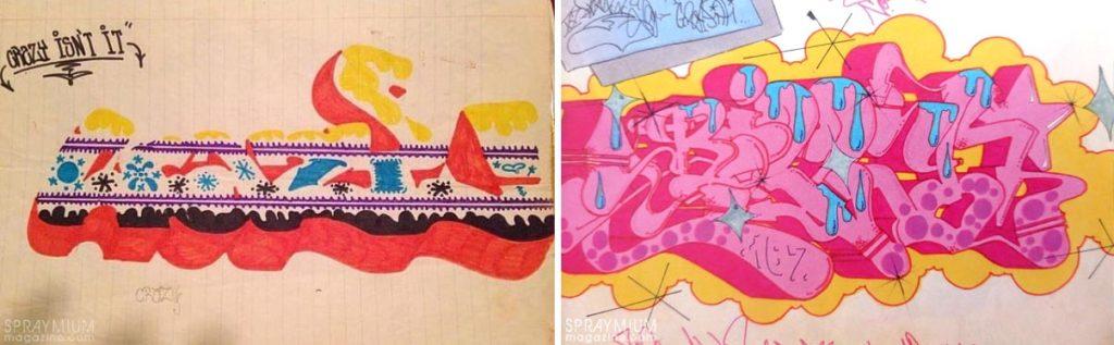 spraymium graffiti sketch sketches sketchs style writing blackbook riff170 billy167