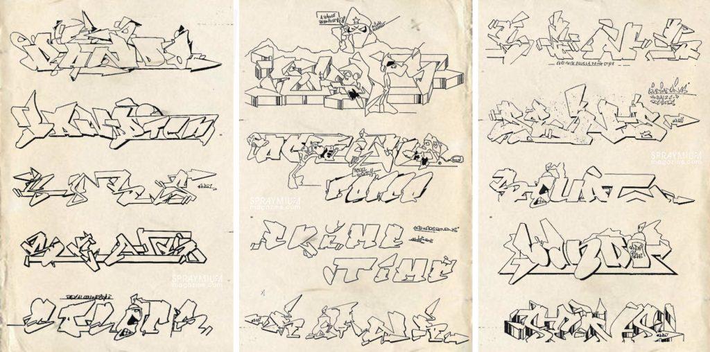 spraymium graffiti sketch sketches sketchs style writing blackbook bando sens ctk