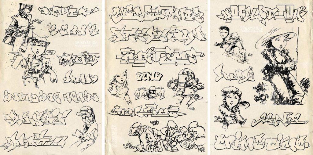 spraymium graffiti sketch sketches sketchs style writing blackbook bando mode2 delta shoe usa ctk tca inc