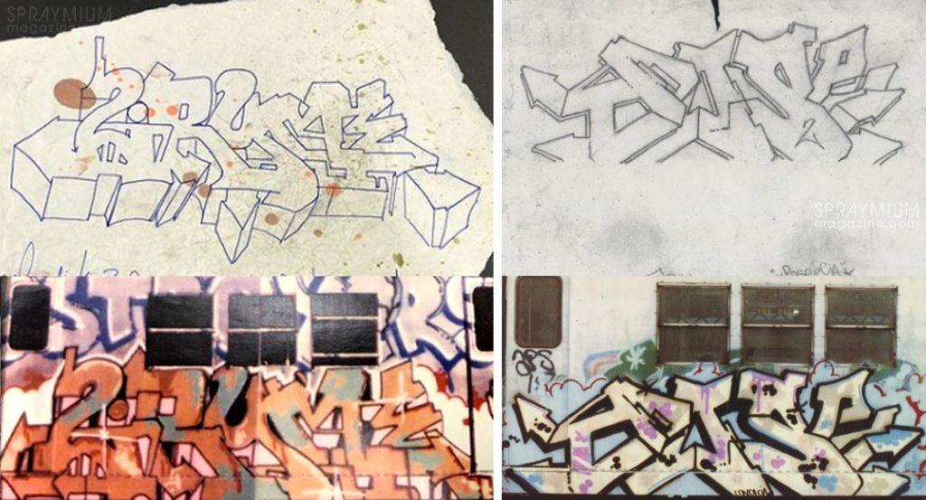 spraymium graffiti sketch sketches sketchs style writing blackbook subwayart aerosolart spraycanart 2ryme kel pose2 dondi