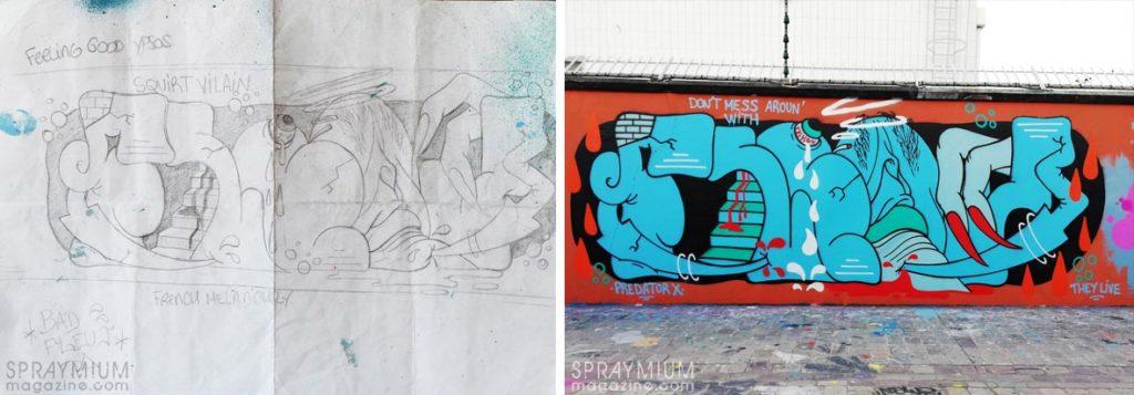 spraymium graffiti sketch sketches sketchs style writing blackbook subwayart aerosolart spraycanart fleuj