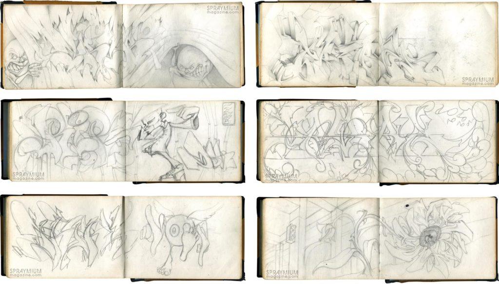 spraymium graffiti sketch sketches sketchs style writing blackbook subwayart aerosolart spraycanart songe trybe
