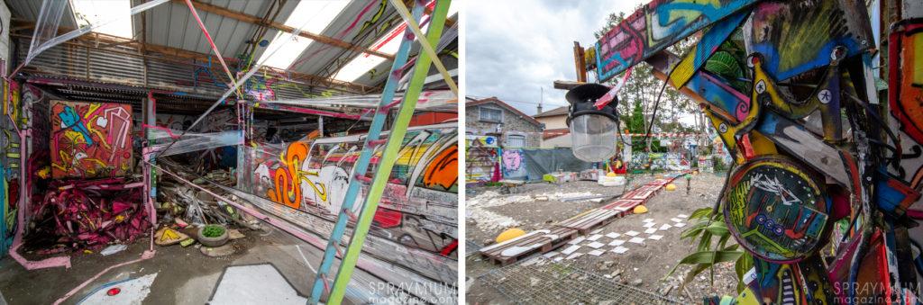 spraymium postgraffiti graffiti art urbain installation sculpture spraycan art bisk